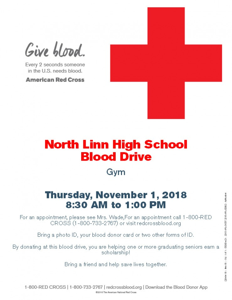 High School Blood Drive North Linn Community School District